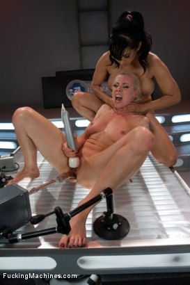 Photo number 6 from QUEEN OF THE MACHINES: Part 1  shot for Fucking Machines on Kink.com. Featuring Isis Love and Lorelei Lee in hardcore BDSM & Fetish porn.