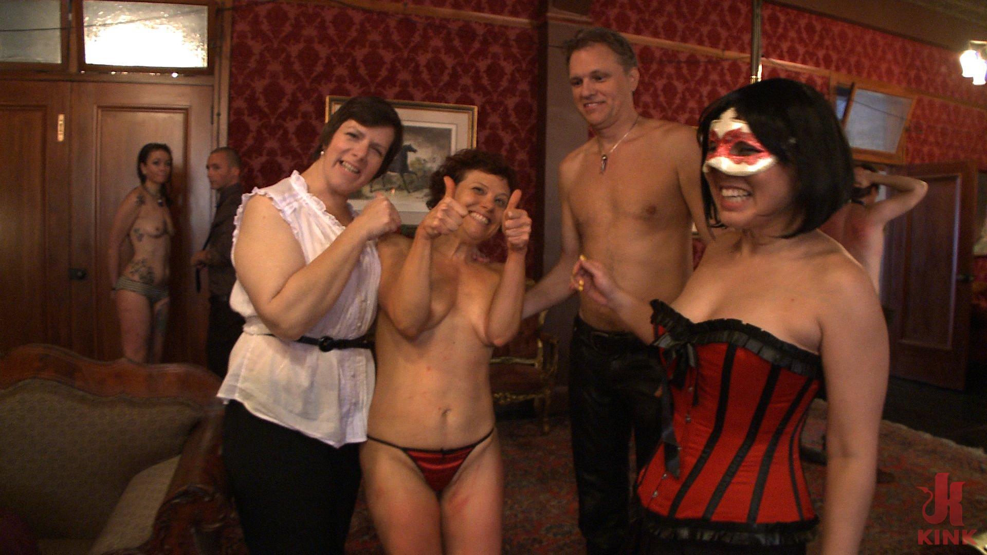 Photo number 8 from Stefanos' Brunch shot for The Upper Floor on Kink.com. Featuring Maestro Stefanos, Nerine Mechanique and Lilla Katt in hardcore BDSM & Fetish porn.