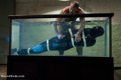 Photo number 8 from Bound in the sleepsack, submerged under water and made to cum. shot for Bound Gods on Kink.com. Featuring CJ Madison and Dante in hardcore BDSM & Fetish porn.