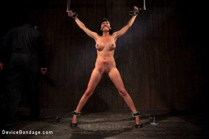 Photo number 2 from Bangin' Brunette Broad -  shot for devicebondage on Kink.com. Featuring Beretta James in hardcore BDSM & Fetish porn.