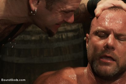 Photo number 7 from Psycho Boyfriend shot for Bound Gods on Kink.com. Featuring Chad Brock and Tober Brandt in hardcore BDSM & Fetish porn.