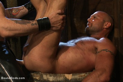 Photo number 14 from Psycho Boyfriend shot for Bound Gods on Kink.com. Featuring Chad Brock and Tober Brandt in hardcore BDSM & Fetish porn.
