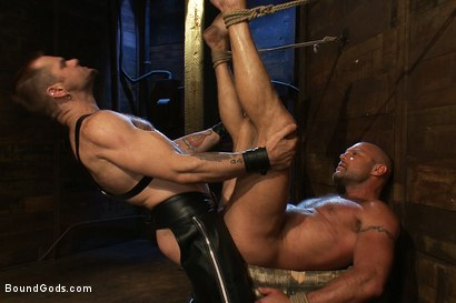 Photo number 12 from Psycho Boyfriend shot for Bound Gods on Kink.com. Featuring Chad Brock and Tober Brandt in hardcore BDSM & Fetish porn.