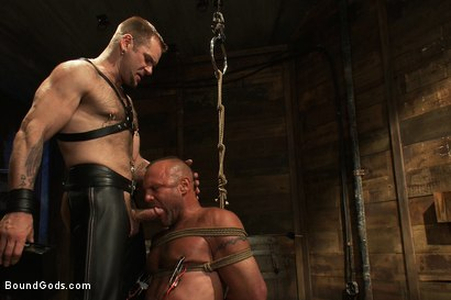 Photo number 3 from Psycho Boyfriend shot for Bound Gods on Kink.com. Featuring Chad Brock and Tober Brandt in hardcore BDSM & Fetish porn.