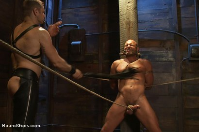 Photo number 2 from Psycho Boyfriend shot for Bound Gods on Kink.com. Featuring Chad Brock and Tober Brandt in hardcore BDSM & Fetish porn.