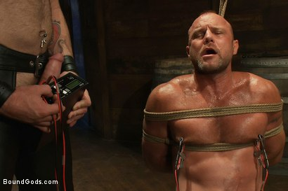 Photo number 5 from Psycho Boyfriend shot for Bound Gods on Kink.com. Featuring Chad Brock and Tober Brandt in hardcore BDSM & Fetish porn.