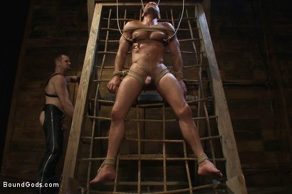 Photo number 10 from Psycho Boyfriend shot for Bound Gods on Kink.com. Featuring Chad Brock and Tober Brandt in hardcore BDSM & Fetish porn.