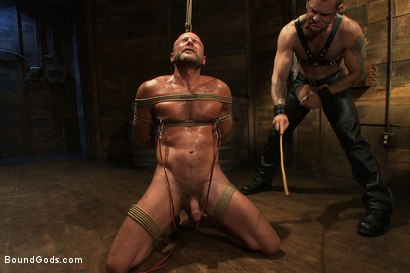 Photo number 6 from Psycho Boyfriend shot for Bound Gods on Kink.com. Featuring Chad Brock and Tober Brandt in hardcore BDSM & Fetish porn.