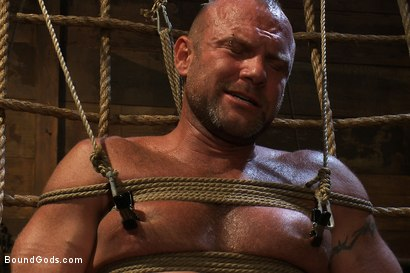 Photo number 11 from Psycho Boyfriend shot for Bound Gods on Kink.com. Featuring Chad Brock and Tober Brandt in hardcore BDSM & Fetish porn.