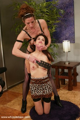 Photo number 3 from Eva Lux and Kym Wilde shot for Whipped Ass on Kink.com. Featuring Eva Lux and Kym Wilde in hardcore BDSM & Fetish porn.