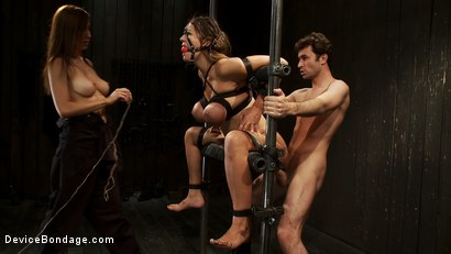 Photo number 1 from Bound tight to be ass fucked deep and hard. shot for Device Bondage on Kink.com. Featuring James Deen and Trina Michaels in hardcore BDSM & Fetish porn.