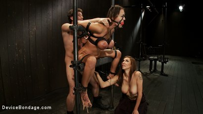 Photo number 11 from Bound tight to be ass fucked deep and hard. shot for Device Bondage on Kink.com. Featuring James Deen and Trina Michaels in hardcore BDSM & Fetish porn.