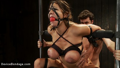 Photo number 3 from Bound tight to be ass fucked deep and hard. shot for Device Bondage on Kink.com. Featuring James Deen and Trina Michaels in hardcore BDSM & Fetish porn.