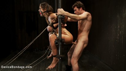 Photo number 9 from Bound tight to be ass fucked deep and hard. shot for Device Bondage on Kink.com. Featuring James Deen and Trina Michaels in hardcore BDSM & Fetish porn.