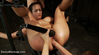 Photo number 7 from Trina gets cock stuffed and fisted shot for Device Bondage on Kink.com. Featuring James Deen and Trina Michaels in hardcore BDSM & Fetish porn.