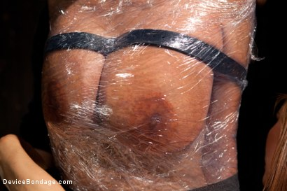 Photo number 2 from Tightly wrapped package shot for Device Bondage on Kink.com. Featuring James Deen and Trina Michaels in hardcore BDSM & Fetish porn.