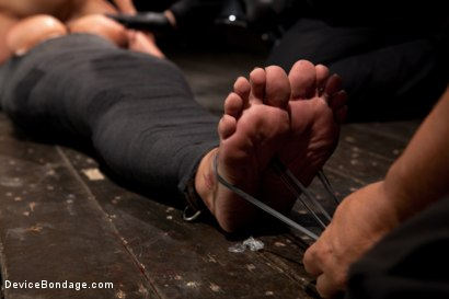 Photo number 11 from Tightly wrapped package shot for Device Bondage on Kink.com. Featuring James Deen and Trina Michaels in hardcore BDSM & Fetish porn.