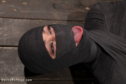 Photo number 10 from Tightly wrapped package shot for Device Bondage on Kink.com. Featuring James Deen and Trina Michaels in hardcore BDSM & Fetish porn.