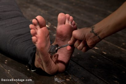 Photo number 5 from Tightly wrapped package shot for Device Bondage on Kink.com. Featuring James Deen and Trina Michaels in hardcore BDSM & Fetish porn.