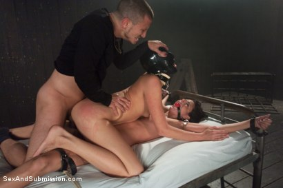 Photo number 7 from Feeding the Gimp shot for Sex And Submission on Kink.com. Featuring Nikki Daniels, Mr. Pete and Kara Price in hardcore BDSM & Fetish porn.