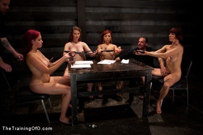 Photo number 4 from 4 Girl Auditions<br>Day 1 shot for The Training Of O on Kink.com. Featuring Akira Raine, Sofia Lauryn, Maestro, Rozen Debowe, Odile and Maestro Stefanos in hardcore BDSM & Fetish porn.