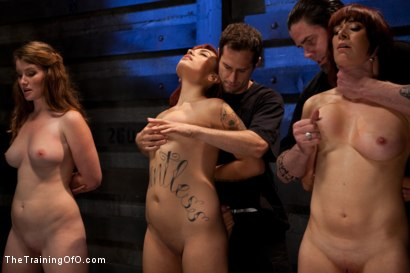 Photo number 12 from 4 Girl Auditions<br>Day 1 shot for The Training Of O on Kink.com. Featuring Akira Raine, Sofia Lauryn, Maestro, Rozen Debowe, Odile and Maestro Stefanos in hardcore BDSM & Fetish porn.