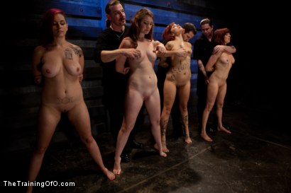 Photo number 15 from 4 Girl Auditions<br>Day 1 shot for The Training Of O on Kink.com. Featuring Akira Raine, Sofia Lauryn, Maestro, Rozen Debowe, Odile and Maestro Stefanos in hardcore BDSM & Fetish porn.