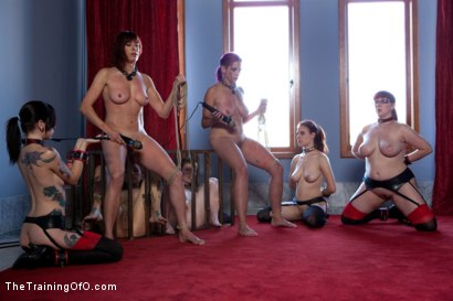 Photo number 14 from Four Girl Auditions-Day 2   Keeping Their Eyes on the Prize shot for The Training Of O on Kink.com. Featuring Akira Raine, Sofia Lauryn, Rozen Debowe and Odile in hardcore BDSM & Fetish porn.
