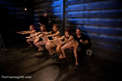 Photo number 1 from Four Girl Auditions-Day 2<br>Keeping Their Eyes on the Prize shot for The Training Of O on Kink.com. Featuring Akira Raine, Sofia Lauryn, Rozen Debowe and Odile in hardcore BDSM & Fetish porn.