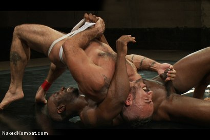 Photo number 4 from Alessio Romero vs. Race Cooper - The Friends Match shot for Naked Kombat on Kink.com. Featuring Alessio Romero and Race Cooper in hardcore BDSM & Fetish porn.