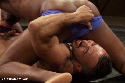 Photo number 2 from Alessio Romero vs. Race Cooper - The Friends Match shot for Naked Kombat on Kink.com. Featuring Alessio Romero and Race Cooper in hardcore BDSM & Fetish porn.