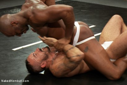 Photo number 3 from Alessio Romero vs. Race Cooper - The Friends Match shot for Naked Kombat on Kink.com. Featuring Alessio Romero and Race Cooper in hardcore BDSM & Fetish porn.