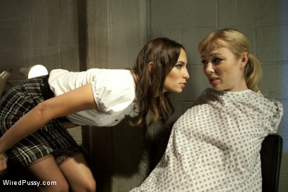 Photo number 15 from Wayward Slut Treatment shot for Wired Pussy on Kink.com. Featuring Amber Rayne and Adrianna Nicole in hardcore BDSM & Fetish porn.