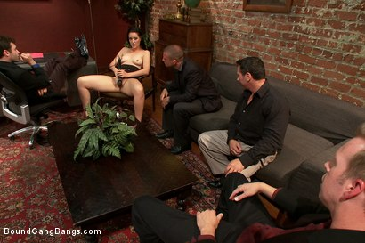Photo number 1 from Office Slut shot for Bound Gang Bangs on Kink.com. Featuring Kimberly Kane, James Deen, John Strong, Mr. Pete and Mark Wood in hardcore BDSM & Fetish porn.