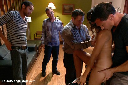 Photo number 4 from Looking for a Gangbang shot for Bound Gang Bangs on Kink.com. Featuring Annie Cruz, James Deen, John Strong, Mickey Mod, Marco Banderas, Bobby Bends and Dietrich Cyrus in hardcore BDSM & Fetish porn.