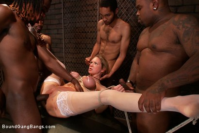 Photo number 9 from The Maids shot for Bound Gang Bangs on Kink.com. Featuring Rain DeGrey, Mickey Mod, Bobby Bends, Tee Reel and Rico Strong in hardcore BDSM & Fetish porn.