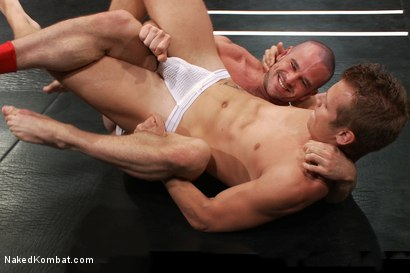 Photo number 3 from Mike Rivers vs Ethan Ayers shot for Naked Kombat on Kink.com. Featuring Ethan Ayers and Mike Rivers in hardcore BDSM & Fetish porn.