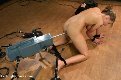 Photo number 6 from A Slave to the Machines: Sexy 19yr Old worked over by fucking machines until she Squirts. shot for Fucking Machines on Kink.com. Featuring Lizzy London in hardcore BDSM & Fetish porn.