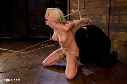 Photo number 10 from Hot blonde with amazing body, has nipples tied and weighted, gagged & made to cum like a common slut shot for Hogtied on Kink.com. Featuring Kaylee Hilton in hardcore BDSM & Fetish porn.