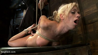 Photo number 11 from Hot blond with big tits, pony tails, and braces.   Face fucked, hogtied & made to cum like a whore. shot for Hogtied on Kink.com. Featuring Kaylee Hilton in hardcore BDSM & Fetish porn.