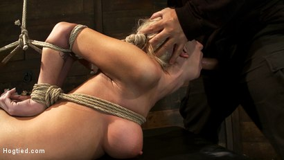 Photo number 12 from Hot blond with big tits, pony tails, and braces.   Face fucked, hogtied & made to cum like a whore. shot for Hogtied on Kink.com. Featuring Kaylee Hilton in hardcore BDSM & Fetish porn.