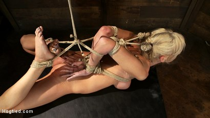 Photo number 13 from Hot blond with big tits, pony tails, and braces.   Face fucked, hogtied & made to cum like a whore. shot for Hogtied on Kink.com. Featuring Kaylee Hilton in hardcore BDSM & Fetish porn.