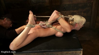 Photo number 10 from Hot blond with big tits, pony tails, and braces.<br>Face fucked, hogtied & made to cum like a whore. shot for Hogtied on Kink.com. Featuring Kaylee Hilton in hardcore BDSM & Fetish porn.