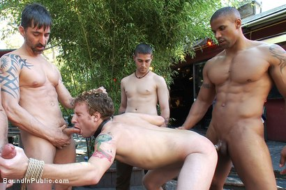 Photo number 11 from Sebastian Keys gets his ass stretched and pissed on in a public bar. shot for Bound in Public on Kink.com. Featuring Sebastian Keys and Robert Axel in hardcore BDSM & Fetish porn.
