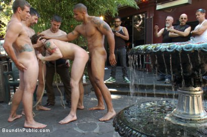 Photo number 6 from Sebastian Keys gets his ass stretched and pissed on in a public bar. shot for Bound in Public on Kink.com. Featuring Sebastian Keys and Robert Axel in hardcore BDSM & Fetish porn.