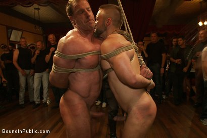 Photo number 7 from Live Shoot: Dirk Caber and 200 horny men at Folsom weekend party. shot for Bound in Public on Kink.com. Featuring Josh West and Dirk Caber in hardcore BDSM & Fetish porn.