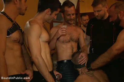 Photo number 9 from Live Shoot: Dirk Caber and 200 horny men at Folsom weekend party. shot for Bound in Public on Kink.com. Featuring Josh West and Dirk Caber in hardcore BDSM & Fetish porn.