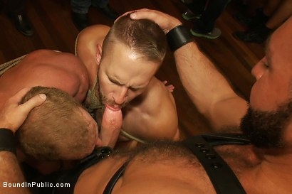 Photo number 11 from Live Shoot: Dirk Caber and 200 horny men at Folsom weekend party. shot for Bound in Public on Kink.com. Featuring Josh West and Dirk Caber in hardcore BDSM & Fetish porn.