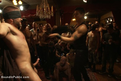 Photo number 2 from Live Shoot: Dirk Caber and 200 horny men at Folsom weekend party. shot for Bound in Public on Kink.com. Featuring Josh West and Dirk Caber in hardcore BDSM & Fetish porn.