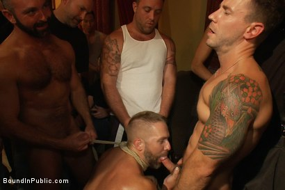 Photo number 12 from Live Shoot: Dirk Caber and 200 horny men at Folsom weekend party. shot for Bound in Public on Kink.com. Featuring Josh West and Dirk Caber in hardcore BDSM & Fetish porn.